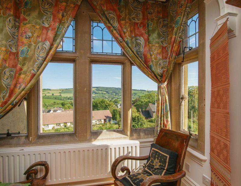 Master bedroom mullion windows
