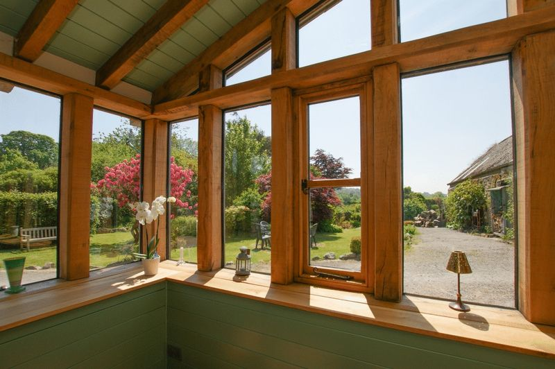 Farmhouse  Outlook from conservatory