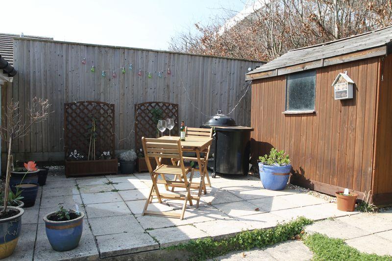 Patio area in rear garden