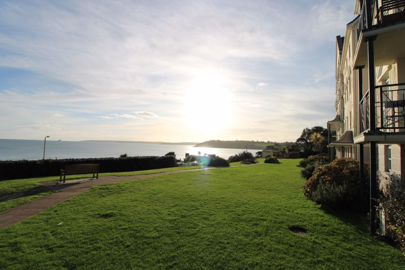 Communal gardens overlooking the bay