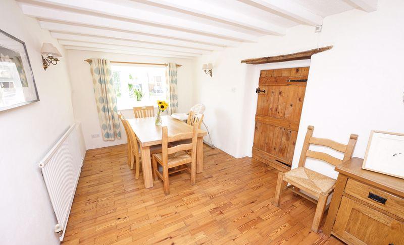 Beams and wood block floor