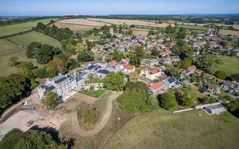 Aerial view of Kingsdon Manor Development