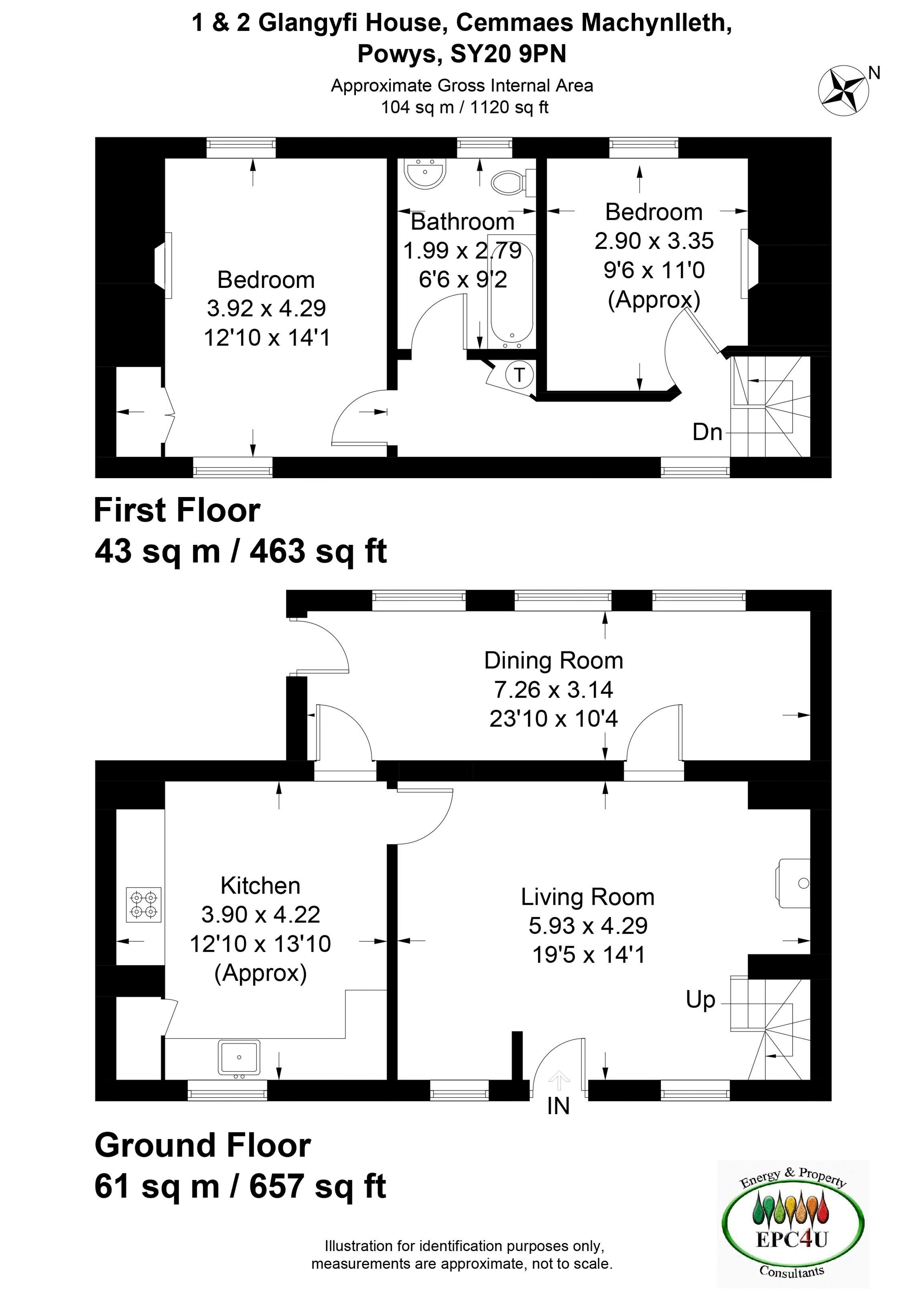 1 & 2 Glandyfi House Floorplan
