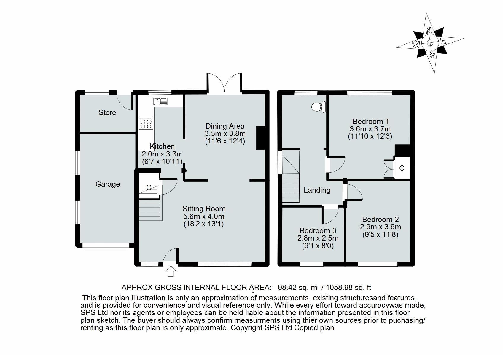 Property for sale in lock crescent kidlington for 1077 marinaside crescent floor plan