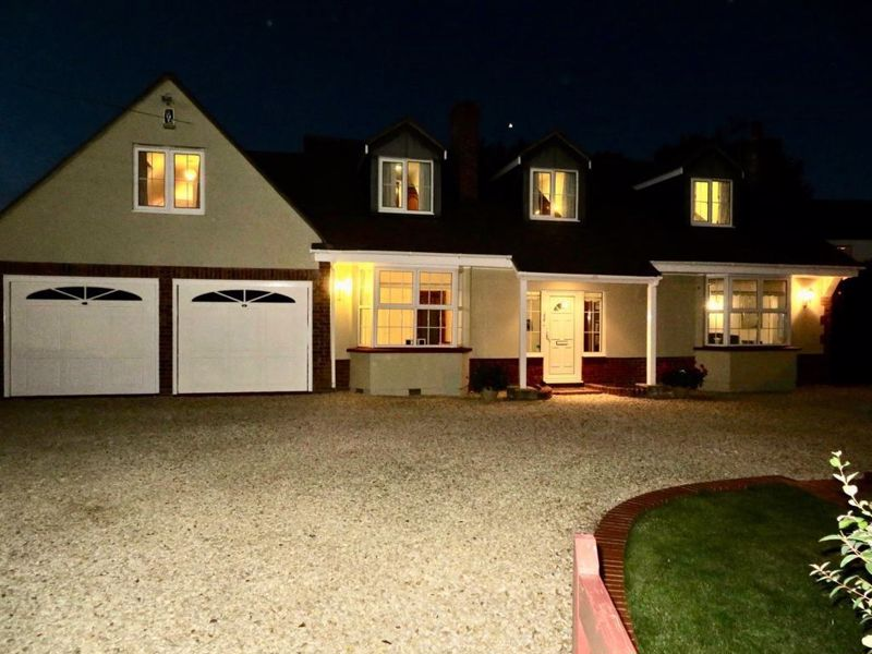Front of property - night view