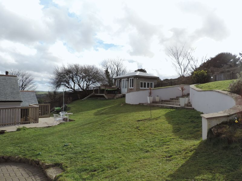 Extensive gardens and chalet