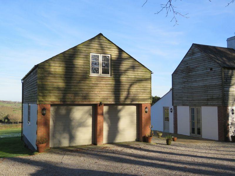 Double garage with en-suite bedroom above