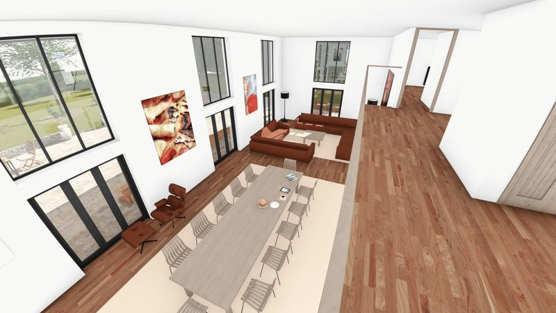 Living space from the gallery landing