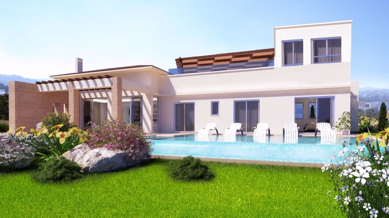 Garden and Swimming Pool (artist impression)