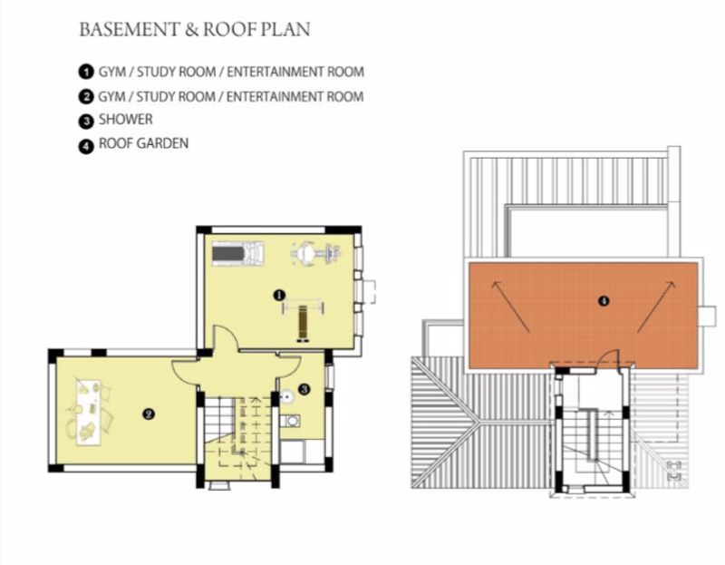 Basement & Roof Plan