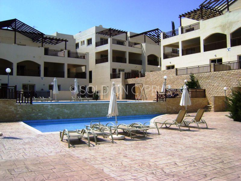 Apartment building & swimming pool