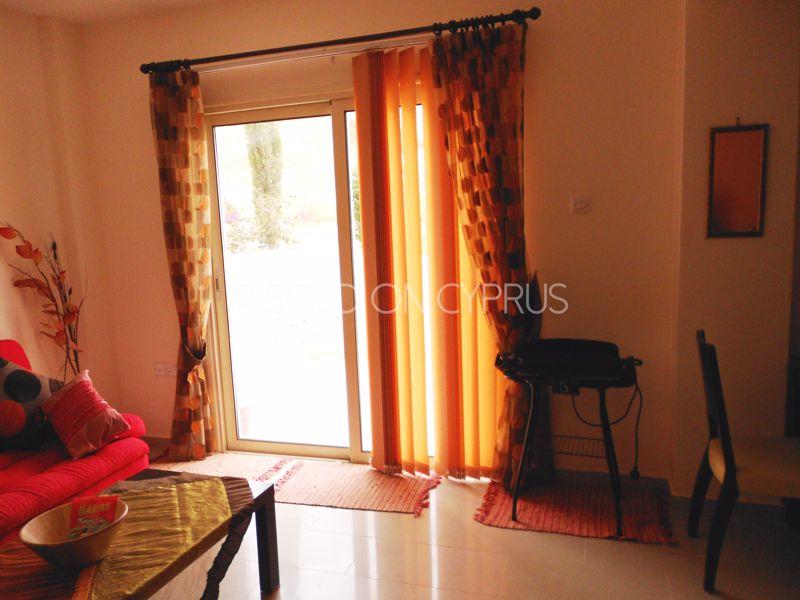 Living room view to balcony door