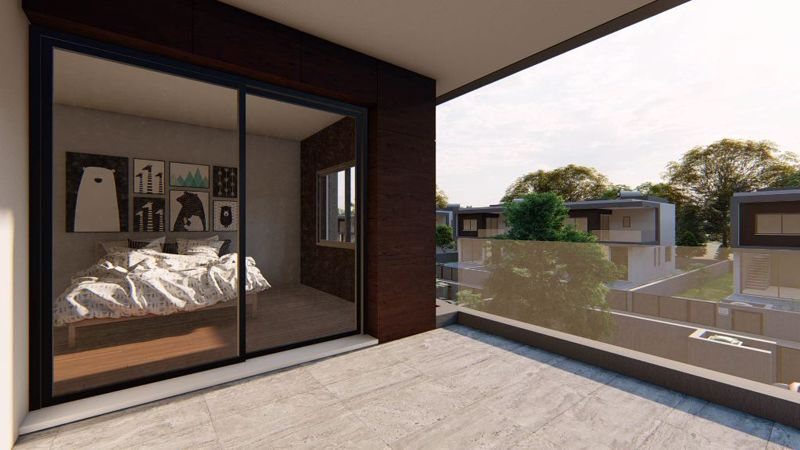 Bedroom with private balcony (design example)