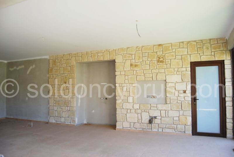 Stone wall in living area