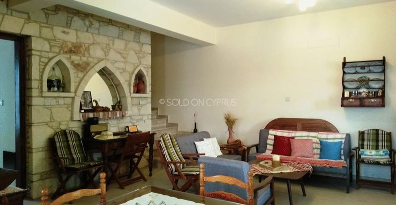 Lounge with Feature Stone Wall