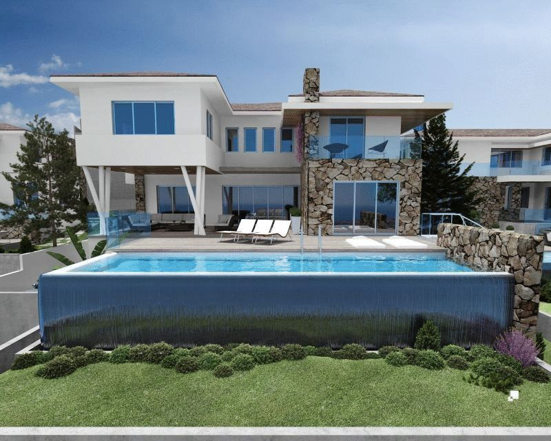 Back elevation with pool