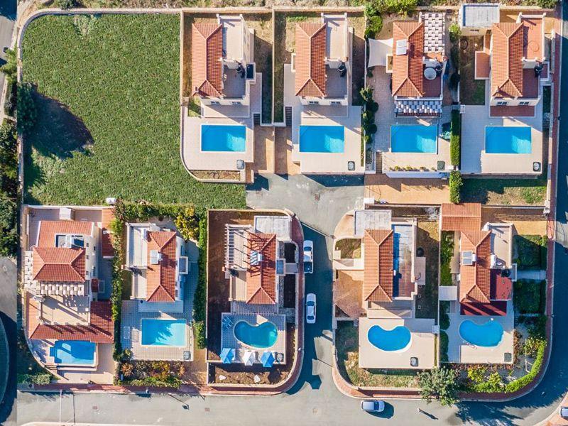 Close aerial view