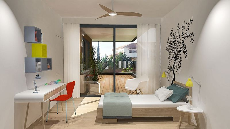 Artist impression  bedroom/roof garden
