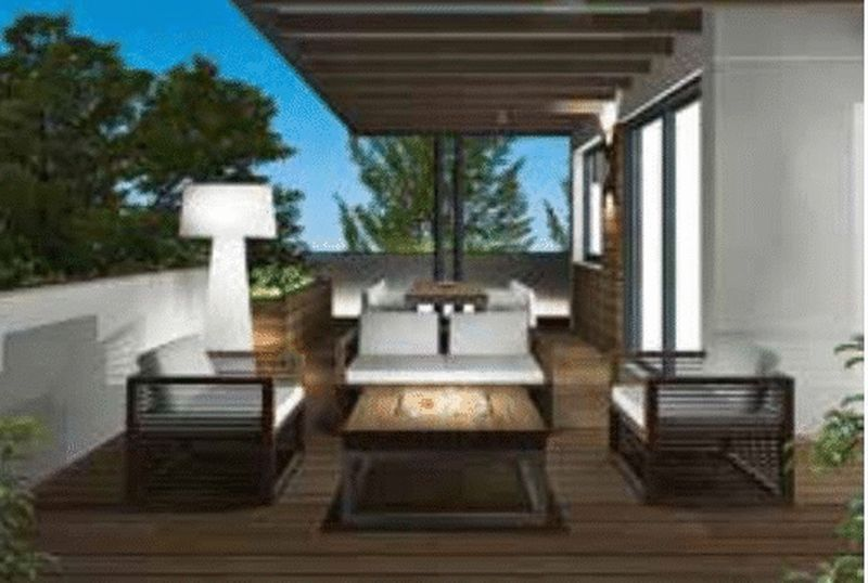 Artist impression of roof garden