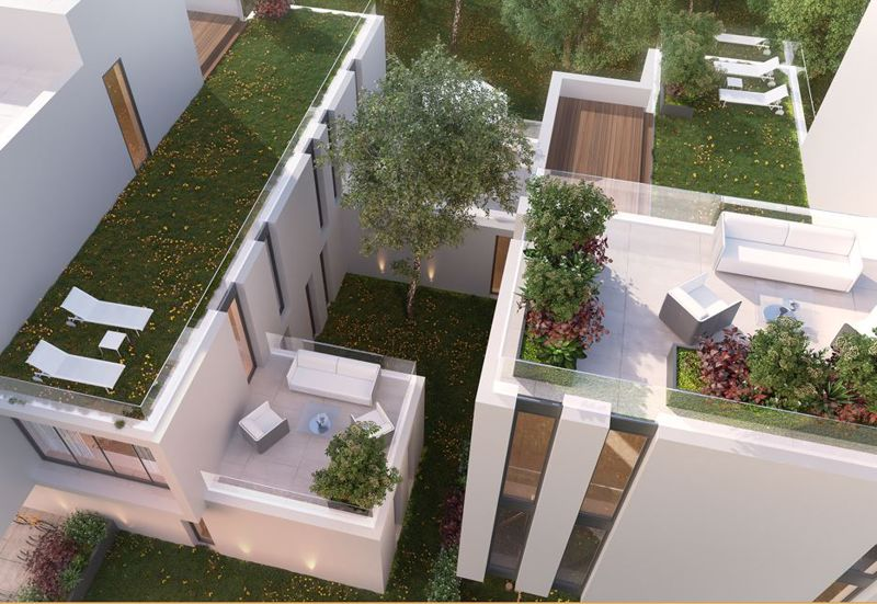 Penthouse roof gardens