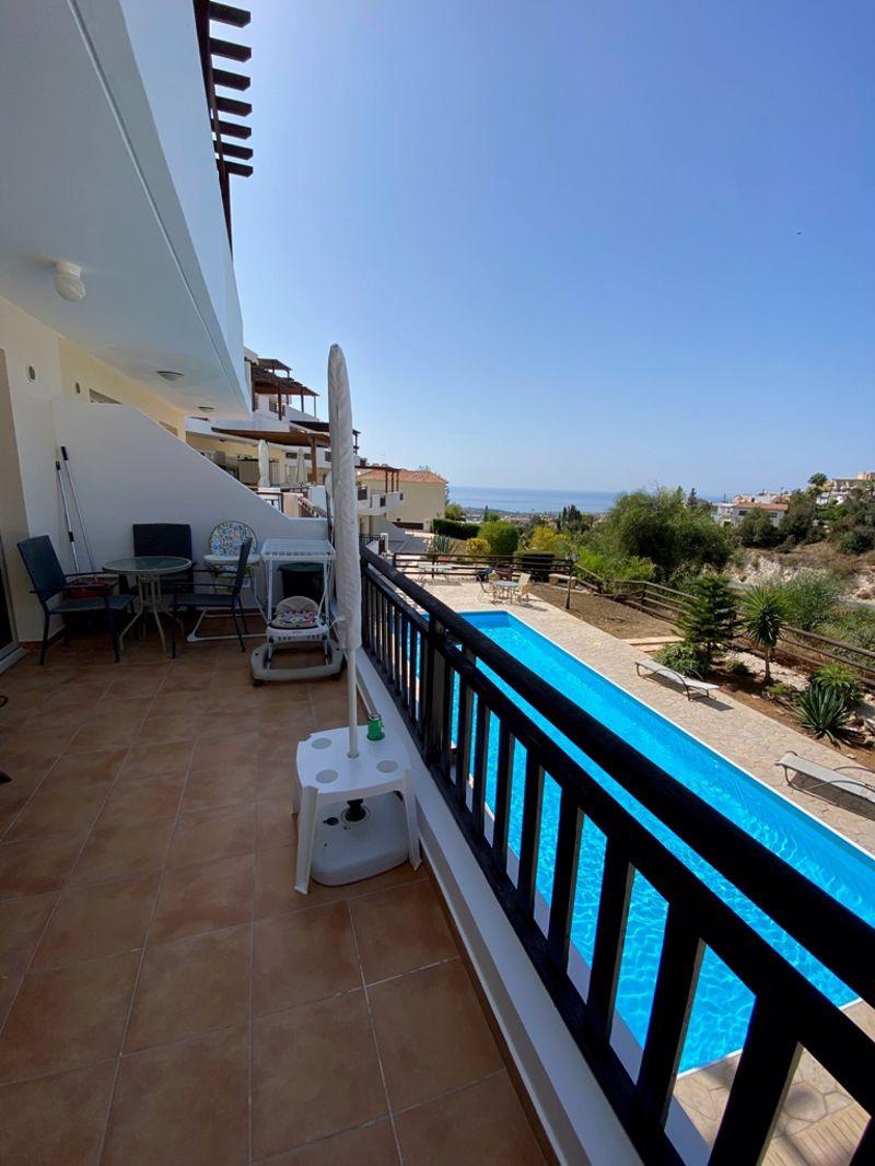 Veranda with sea views