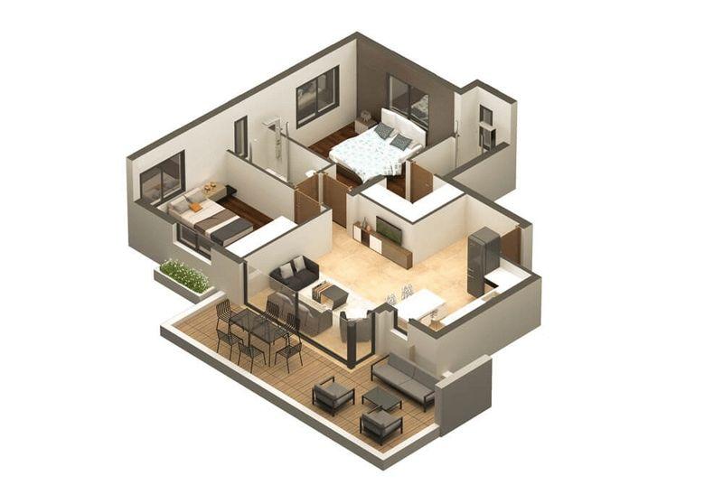 3D Apartment Layout