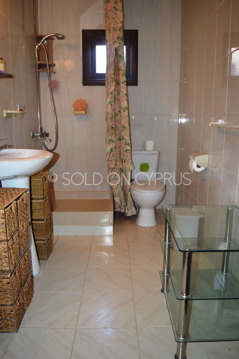 Basement flat shower room