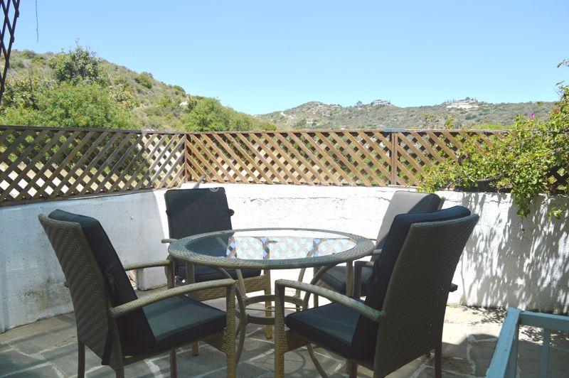 Rear patio dining area