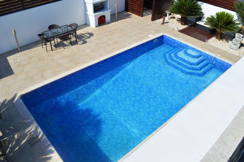 Balcony view of pool area
