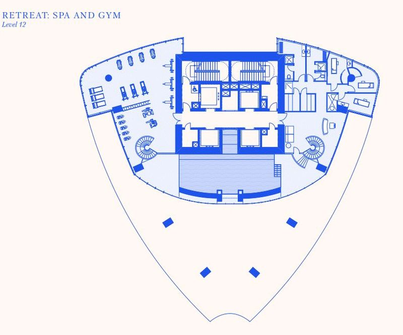 Spa and gym 2nd floor plans
