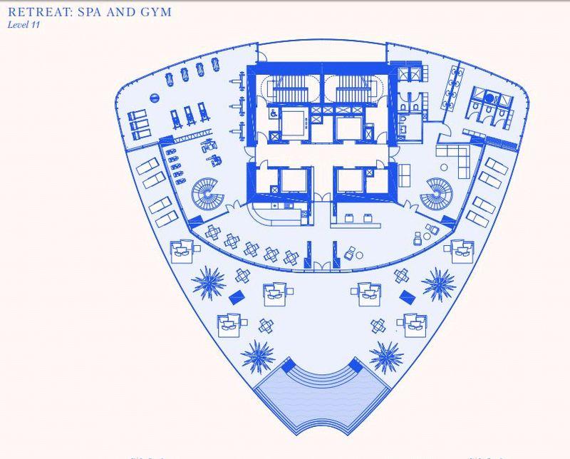 Spa and gym 1st floor plans