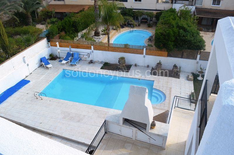 View of Swimming Pool from Roof Terrace