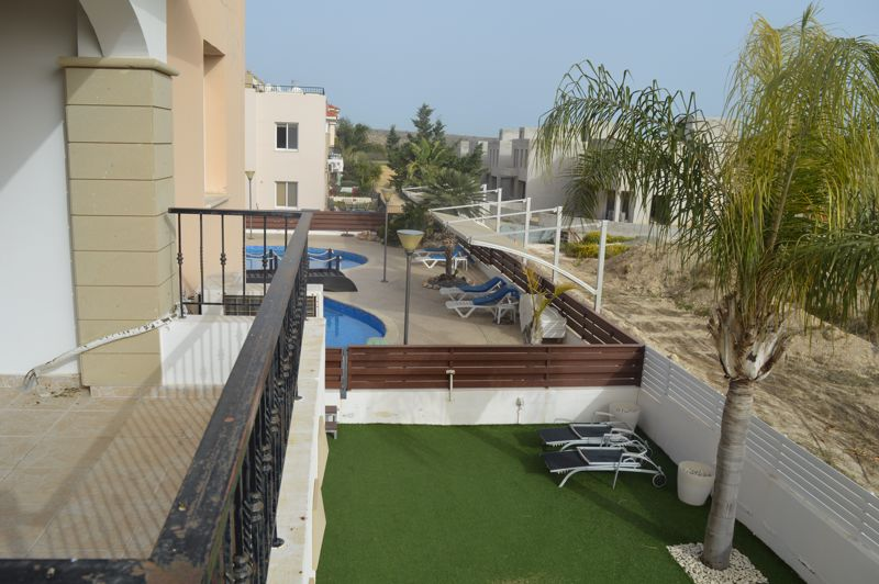 Balcony view of communal pool