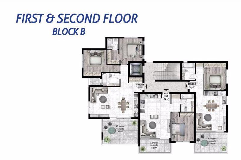 Block B floor plans