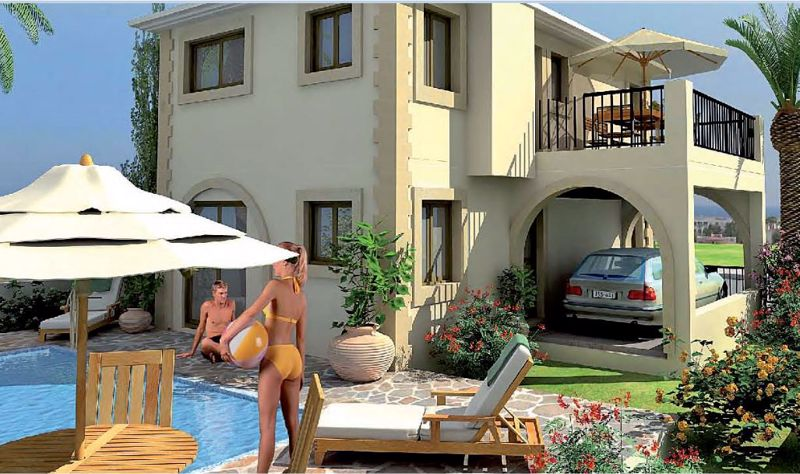 Artist impression of pool/garden