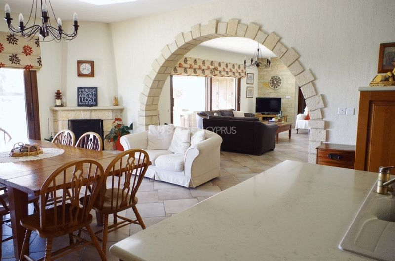 View To Lounge From Kitchen, Feature Stone Archway
