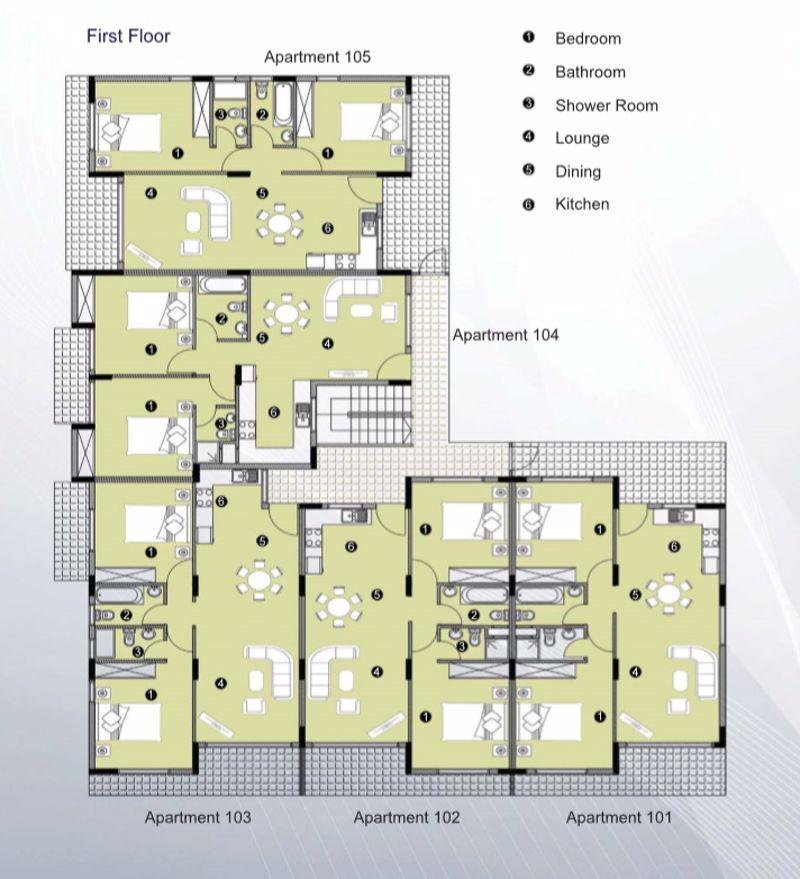 Block A First Floor Plan (Artist Impression)