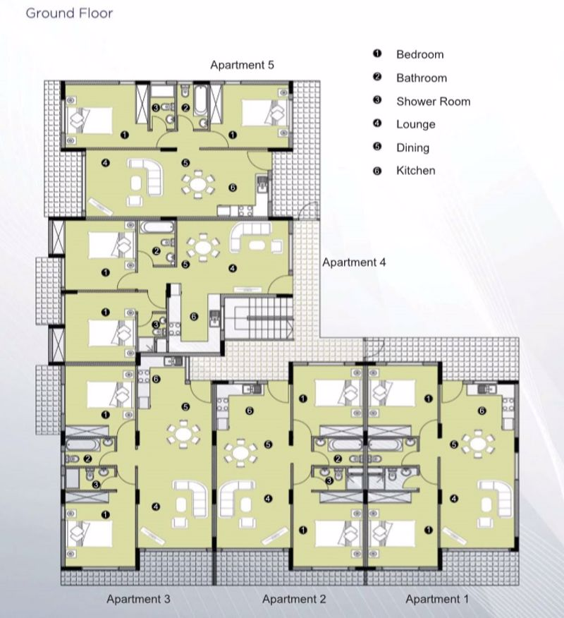 Block A Ground Floor Plan (Artist Impression)
