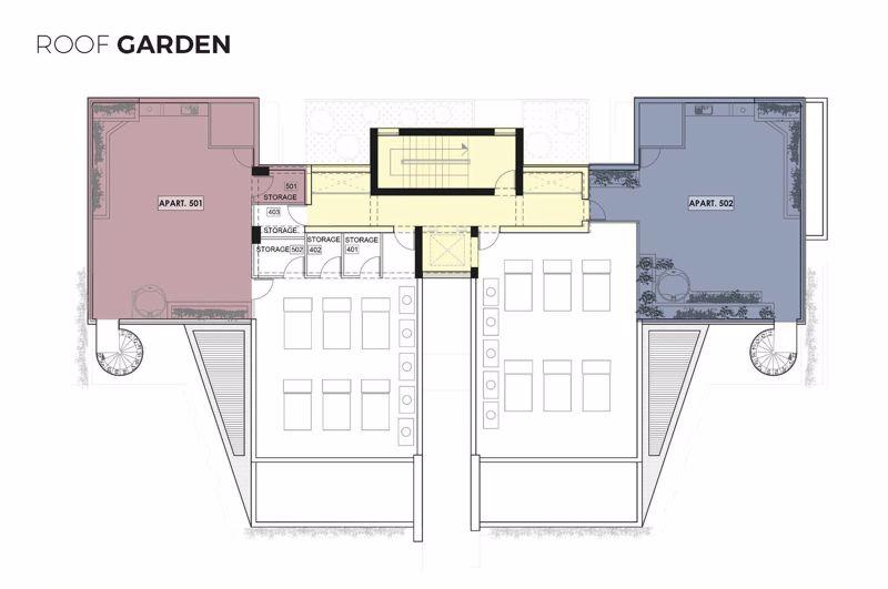 Roof Garden Layout