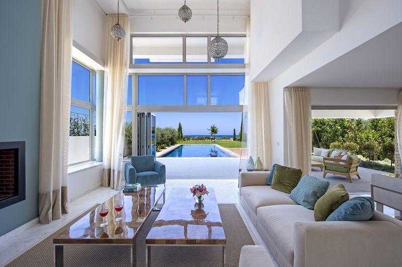 Open Plan Living Area with Floor to Ceiling Window