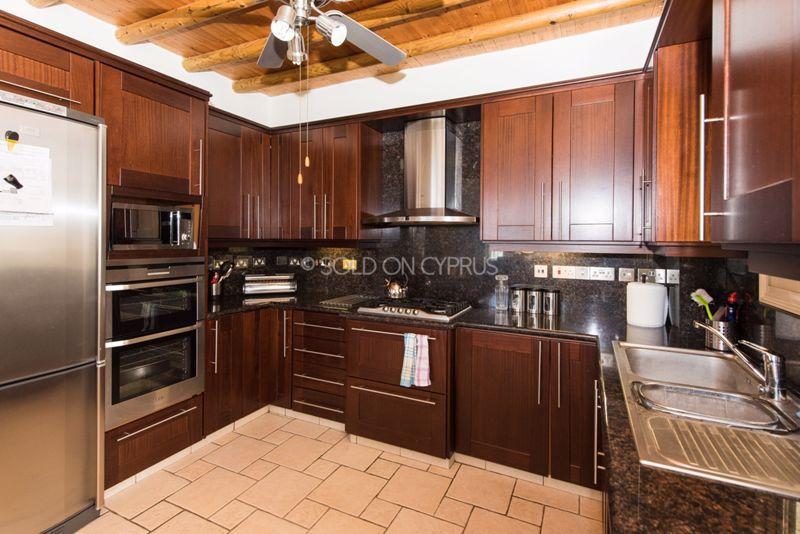 Beautiful Dark Wood Kitchen