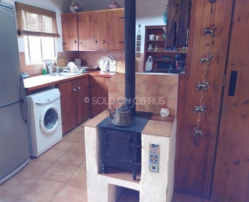 Kitchen With Woodburner