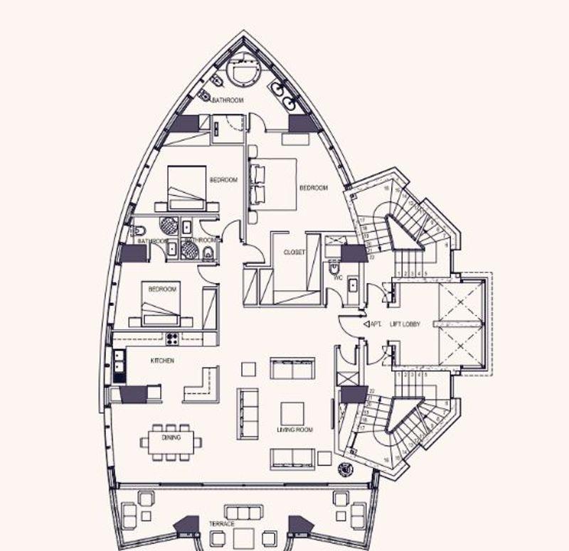 Full floor apartment plans