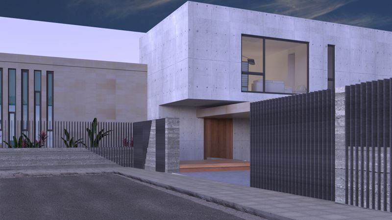 Front of Villa (artists impression)
