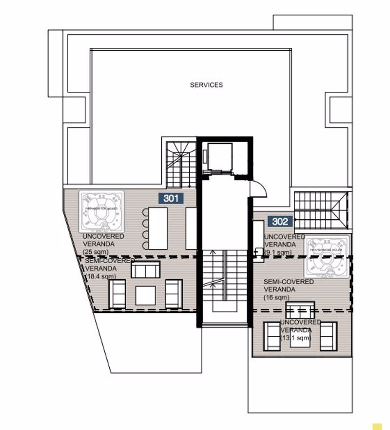 Penthouse roof garden plans