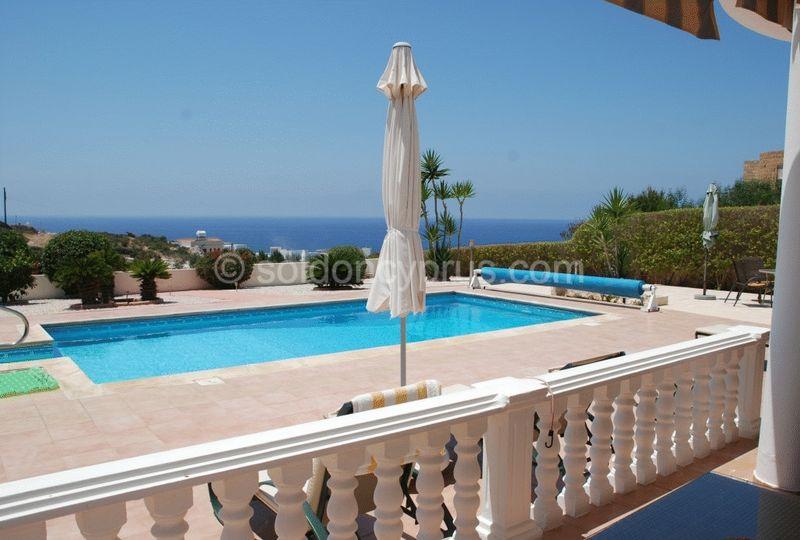 Terrace Overlooking Pool and Sea Views