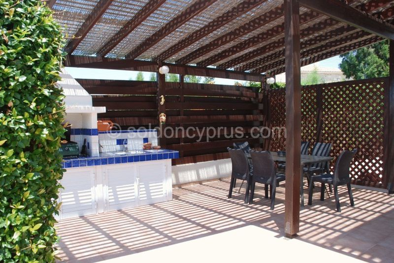 Summer Kitchen and Covered Seating Area