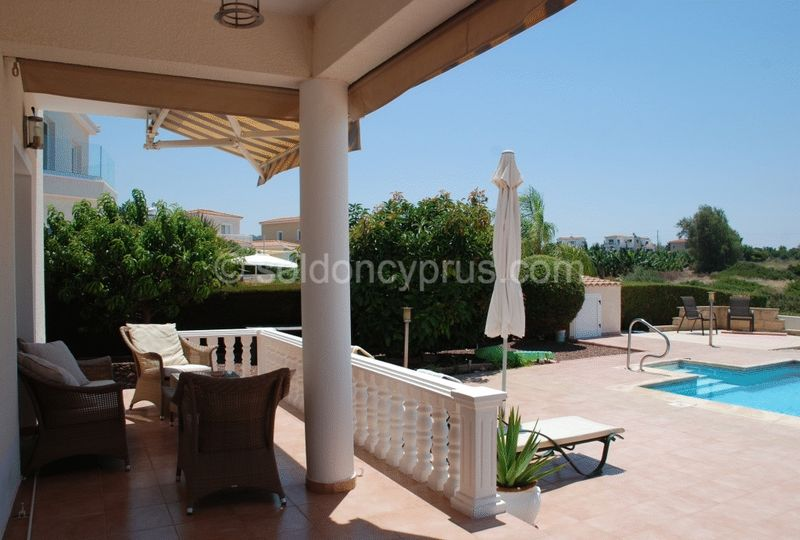 Covered Poolside Terrace