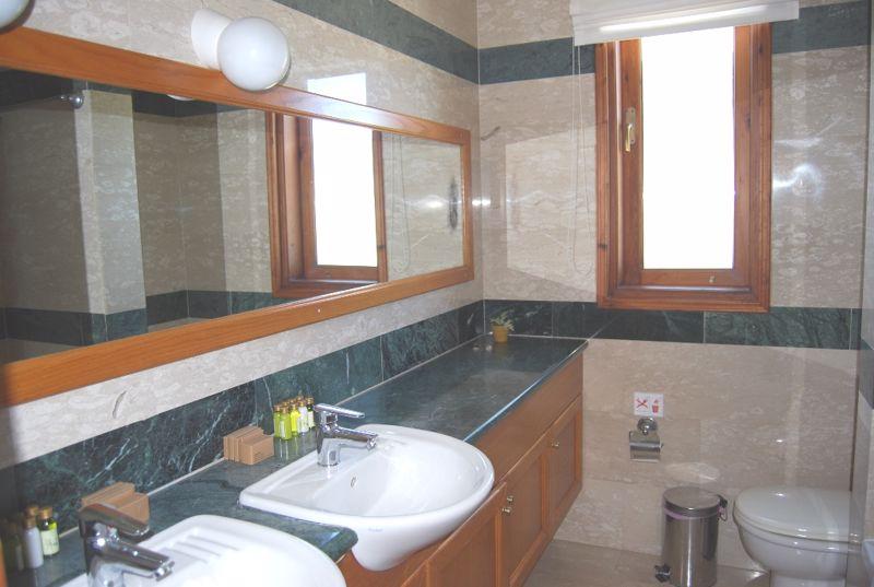 Double sink in ground floor bathroom