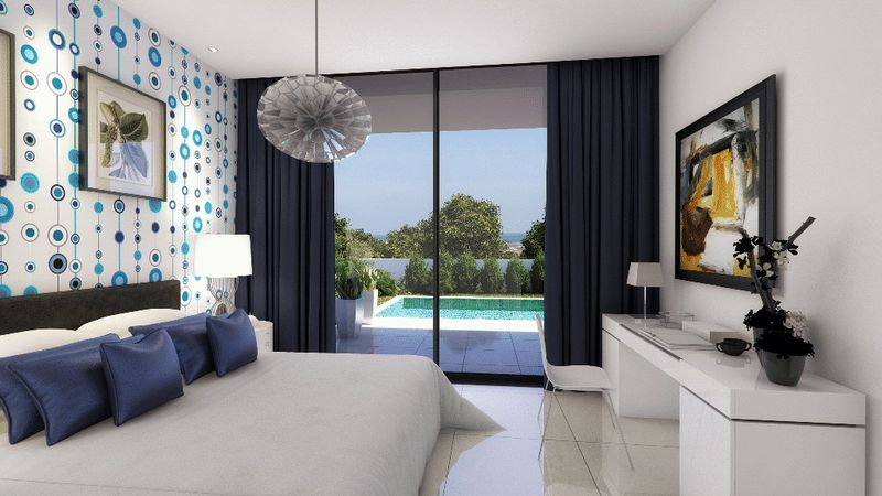 View of how the villa will look